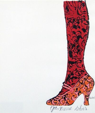 Andy Warhol, 'Gee, Merrie Shoes', c. 1950