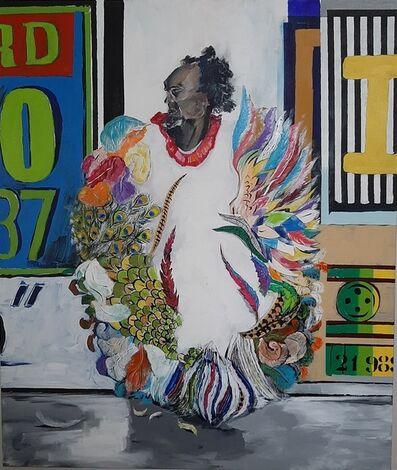 Robinson Oliveira, 'Sr. Bispo com manto de plumas', 2020