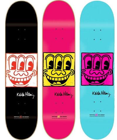 Keith Haring, 'TV Face Skateboard Set of 3', 2013