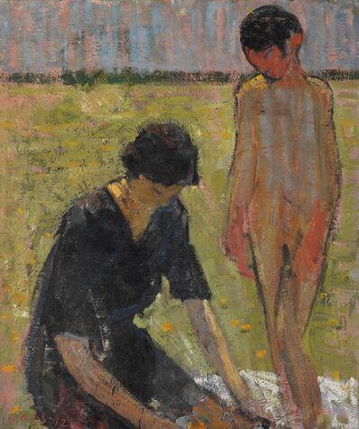 Jais Nielsen, 'Figures in an landscape'