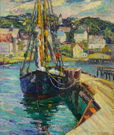 Bertha Walker Glass, 'Fishing Boat at Dock, Gloucester', 19th -20th Century