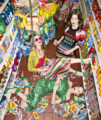 Sophie Elgort, 'Three Girls With Candy', 2017