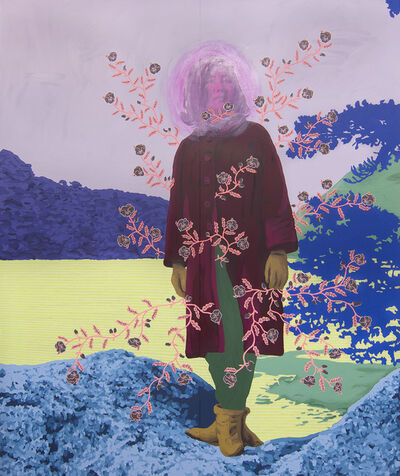 Daisy Patton, 'Untitled (Woman with Pansies)', 2018
