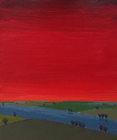 John Karl Claes, 'Primary Landscape (Red)'