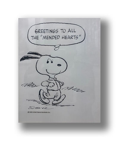 Charles M. Schulz, 'Greetings to All the Mended Hearts', 1982