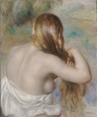Pierre-Auguste Renoir, 'Blonde Braiding Her Hair', 1886
