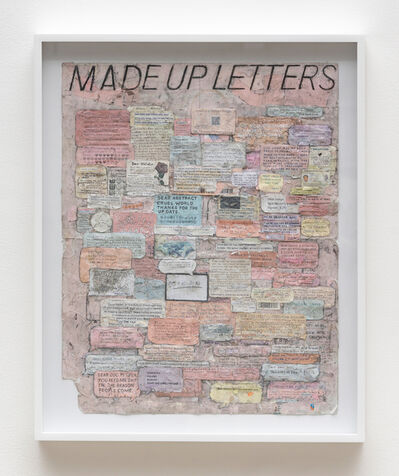 Simon Evans™, 'Made Up Letters', 2018
