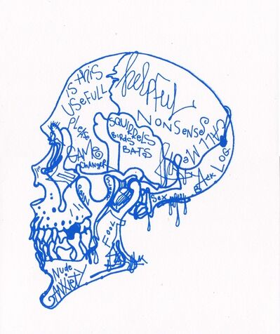 Michael Alan, 'Blue Skull Mind Chatter / Based on the Cellphone', 2019