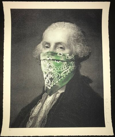 "Mr. Brainwash, '""George Washington President's Day Bandanna"" ', 2018"
