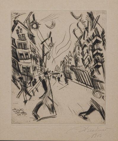 Ludwig Meidner, 'Strabe in Wilmersdorf', 1913