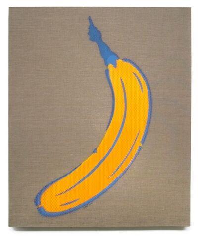 Bananensprayer Thomas Baumgärtel, 'Farbrasterbanane', 2000