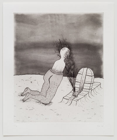 Zachary Leener, 'Five Etchings (Gravesite)', 2015