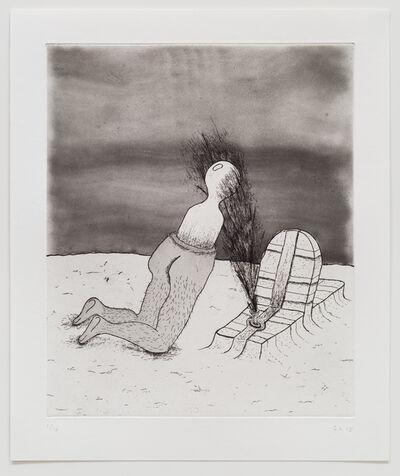 Zachary Leener, 'Five Etchings (Gravesite)', 2015