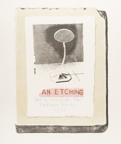 After David Hockney, 'An Etching and a Lithograph for Edition Alecto 1973', 1973