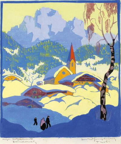 Herbert Gurschner, 'Winter in Tyrol', ca. 1930