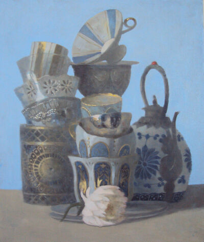 Olga Antonova, 'Composition with china and flower', 2019