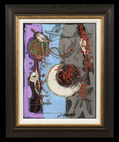 Claude Venard, 'Composition aux fraises et feuilles', 1950-1980