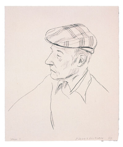 David Hockney, 'William Burroughs', 1981