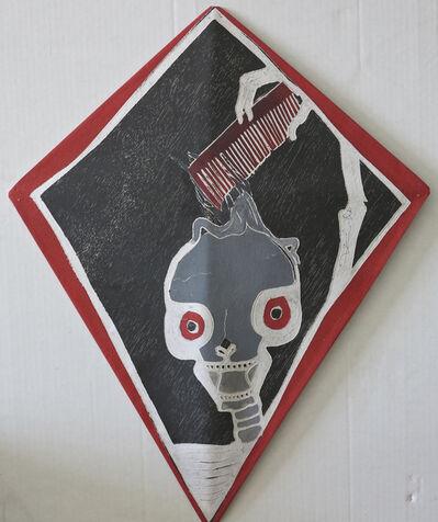 Francisco Toledo, 'Calavera con peine rojo', 2010