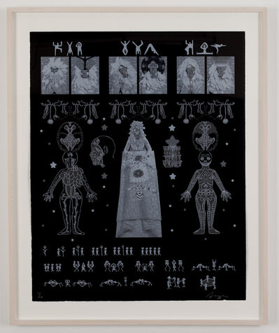 Saya Woolfalk, 'Rosetta Stone of Empathic Movement and Biology', 2011