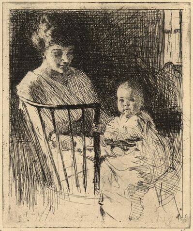 Frank Weston Benson, 'Mother and Child.', 1913