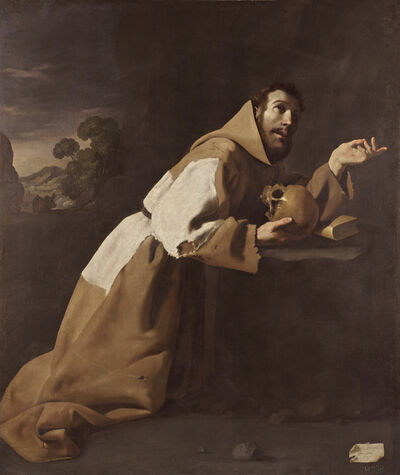 Francisco de Zurbarán, 'San Francisco en meditación (Saint Francis in Meditation)', 1639