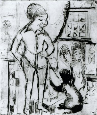 Ernst Ludwig Kirchner, 'Bube mit Katze (im Wohnzimmer Wildboden)', 1924