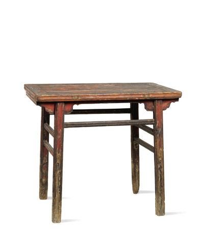 Unknown Chinese, 'A small red lacquered softwood rectangular table', China:Shanxi province-17th century