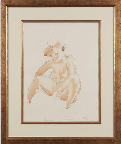 Georg Kolbe, 'Seated Female Nude', 1924-1928