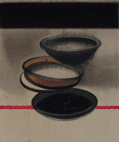 "Madhu Basu, 'Magma n°247, Acrylic & Pigment on canvas, Black, Red, Grey, Brown ""In Stock""', 2019"