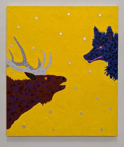 Joe Fay, 'Elk and Wolf', 2019