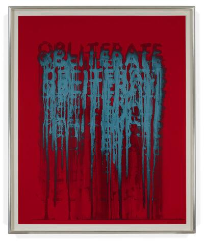 Mel Bochner, 'Obliterate', 2018
