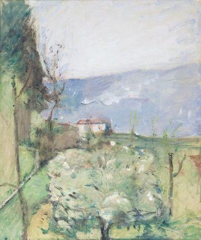Arturo Tosi, 'Paesaggio collinare con albero fiorito', Fifties