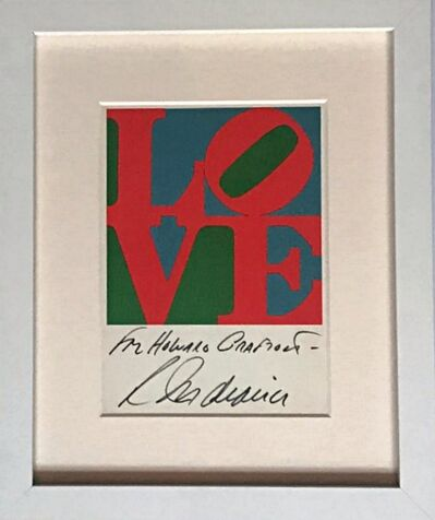 Robert Indiana, 'LOVE (Hand Signed and Inscribed by Robert Indiana)', 1979