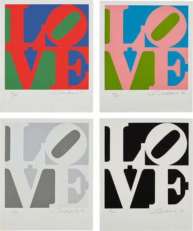 Robert Indiana, 'Book of Love: four plates', 1996