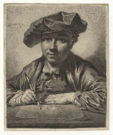 GEORG FRIEDRICH SCHMIDT, 'Self-Portrait, drawing   '
