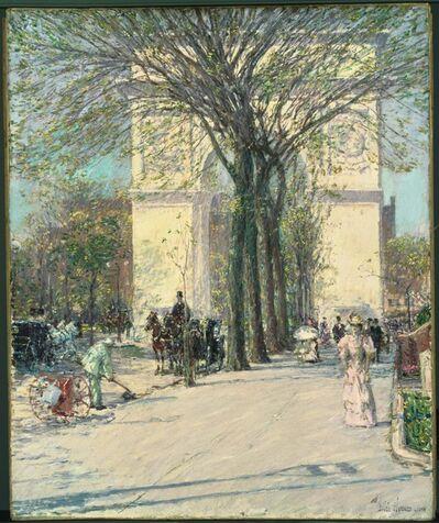 Childe Hassam, 'Washington Arch, Spring', 1890