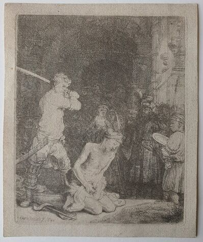 Rembrandt van Rijn, 'The Beheading of St John the Baptist', 1640