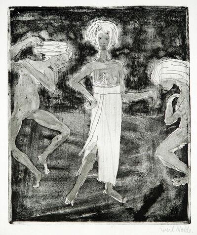 Emil Nolde, 'Junger Fürst und Tänzerinnen ', 1918