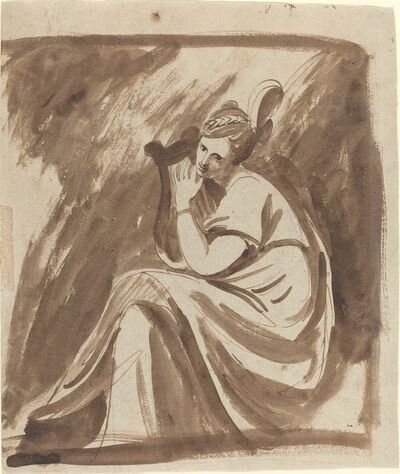 George Romney, 'Lady Hamilton Playing a Lyre', ca. 1785