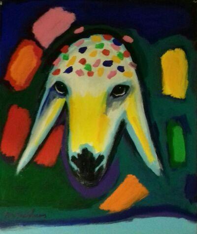 Menashe Kadishman, 'Festive sheep', 2000