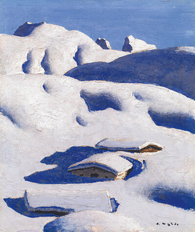 Alfons Walde, 'Snowy Alps', 1932