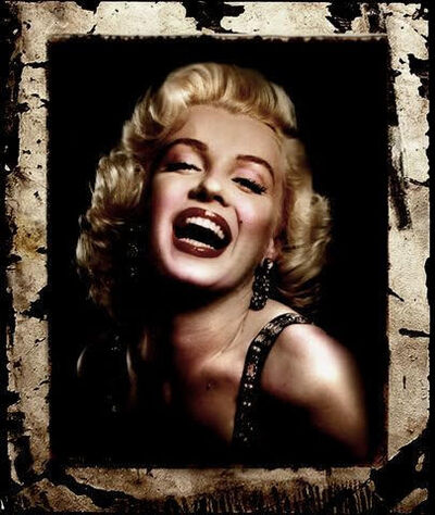 Bill Mack, 'Bill Mack Astonishing – Marilyn Monroe Original Hollywood Sign Mixed Media Unique Print Contemporary Art ', 1980-2010