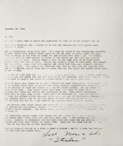 T.R. Ericsson, 'Letter, October 28, 1992', 2015