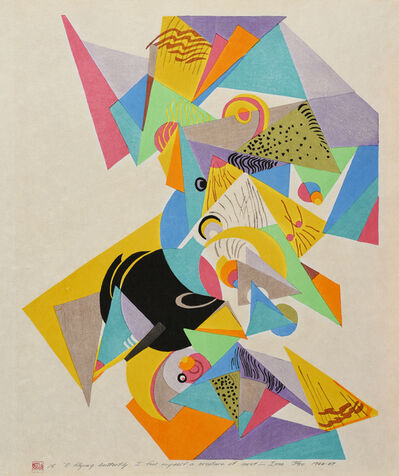 "Stanton MacDonald-Wright, 'Haiga Portfolio, No. 15: ""O flying butterfly I feel myself a creature of dust""--Issa', 1966-67"