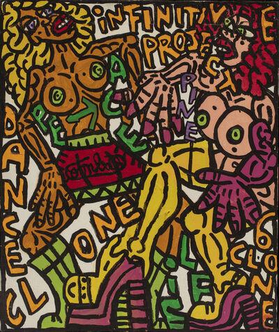 Robert Combas, 'DANCE CLONE Infinitive project', 1995