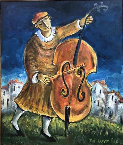 Yosl Bergner, 'Berl Bass', ca. 1980