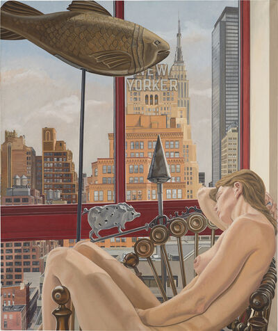 Philip Pearlstein, 'Model with Empire State Building', 1992