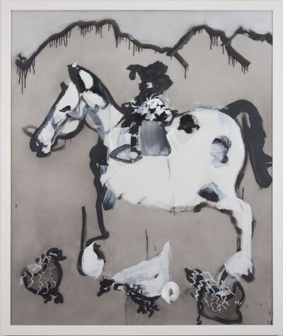 Kim Dingle, 'Untitled (appaloosa w/ chicken)', 2017