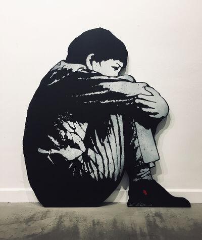Jef Aérosol, 'Sitting Kid', 2019